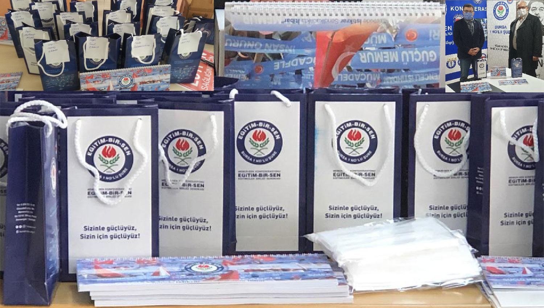EBS Bursa1 yeni yıl takvimleriyle birlikte üyelere hijyen hediye paketi dağıttı
