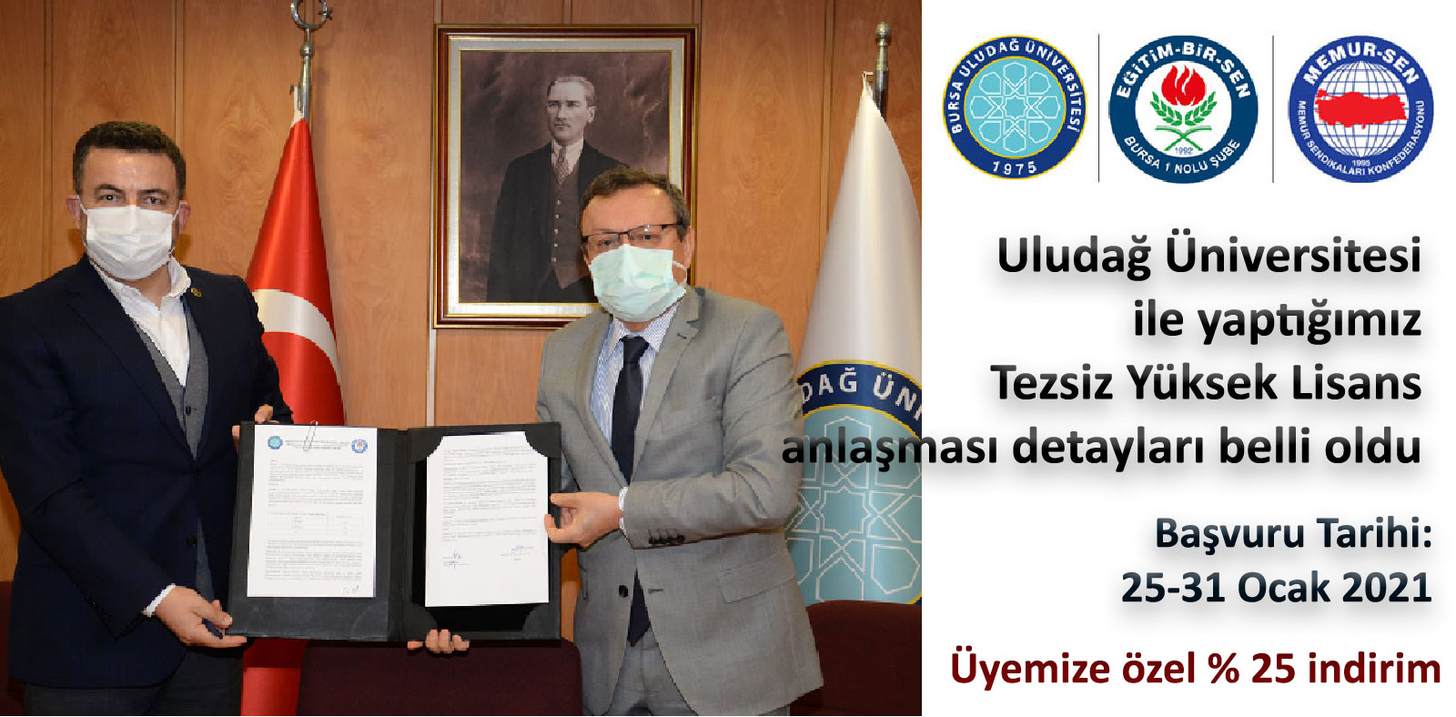 Uludağ Üniversitesi ile yaptığımız Tezsiz Yüksek Lisans indirim anlaşması detayları belli oldu